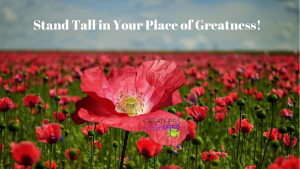 Stand Tall in your Place of Greatness