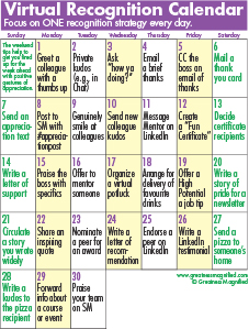 Virtual Recognition Calendar