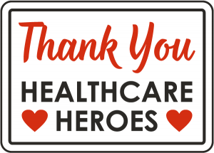 thank you healthcare heroes with Sarah McVanel