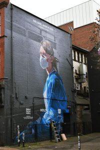 nurse hero painting on a building