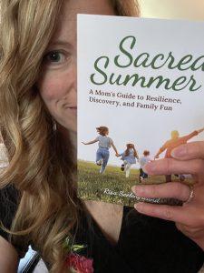 Sarah reading books Sacred Summer