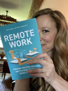 sarah mcvanel reading Remote Work from her Summer Reading List