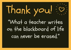 Thank a Teacher for creating the opportunity to teach greatness